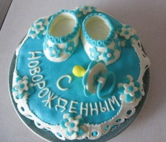 Торт на рождение мальчика без мастики фото