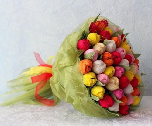 Букет из конфет тюльпаны фото мастер класс